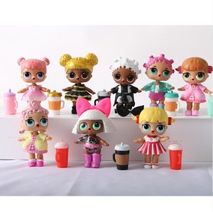 Muñecos para los pequeños dibujos animados figura de acción caballo del unicornio del arco iris Para sorpresa de animales bola del juguete del chica del animado regalo de cumpleaños LOL