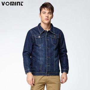 Vomint 2019 New Mens Denim пальто куртки однобортной Сыпучие F Wash Деталь Больших мужчины Большого размер L 4XL 5XL 6XL 7XL V7S1C001