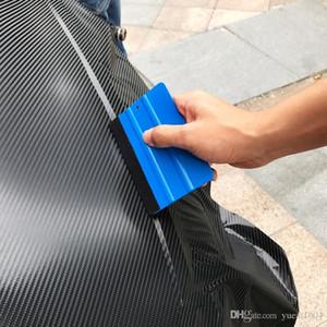 Keçe kenar boyutu 13cm * 8cm Araç Şekillendirme Çıkartma Aksesuarları ile Oto Vinil Film sarma araçları Mavi Kazıyıcı silecek