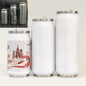 MDF сублимация заготовка теплопередачи может 280ml / 380ml / 450ml передачи DIY304 термоса из нержавеющей стали чашки тепла можно напечатать фото чашка