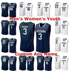 Huskies de UConn NCAA Basketball Maillots 1 Christian Vital Jersey 11 Boatright Hamilton Ray Josh Carlton Tyler Polley personnalisé Cousu