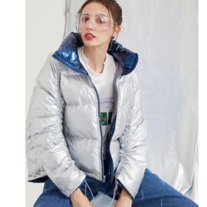 Для женщин дизайнера вниз ветровки Моды Люкса Зима пуховик Женщин Сыпучей Дважды Wear Толстых полупальто Марки PARKAS Девушки зимних одежд