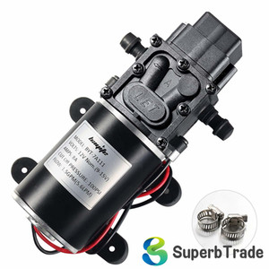 12V Diaphragm Water Pump, 1.5 GPM (5.6 L Min) 100 PSI, 12 Volt DC Fresh with 2 Hose Clamps, Self Priming Sprayer Pump with Pressure Switch