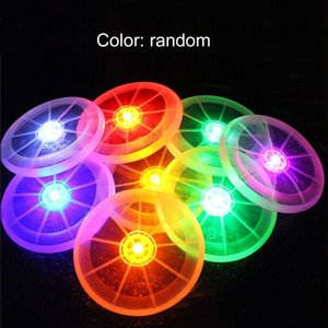 "1pcs LED ""Steering Wheel"" Luminous Flying Disc Flashing Flying Disc PU Material Outdoor Night Round Pet Dog Cat Training Toy"