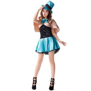 Adulto Mulher Halloween Circus luxo Sexy Lion Tamer Ringmaster Costume instrutor Female Magician Cosplay partido do vestido extravagante
