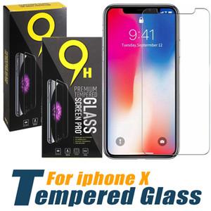 Protetor de tela para o iPhone 11 Pro Max XS Max XR vidro temperado para iPhone 7 0,33 milímetros 8 Plus Film Protector com caixa