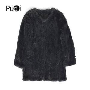 Pudi CT848 kürk gündelik yepyeni sonbahar kış örme ceket womens