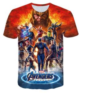 Neue heiße Art und Weise Avengers Endgame 4 T-Shirt mit 3D-Druck-Männer / Frauen Unisex Sommer Round Kragen Kurzarm Casual Tops Hip Hop K1048