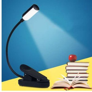 New LED Clip Book Lamps USB Rechargeable Eye Protection Reading Light Flexible 360 Degree Portable Desk Lamps Learning Lighting