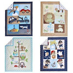 Foreign Trade of the Original Single Cute Pattern Infant Embroidered Early Education Applicable Factory Direct Supply Baby Quilts