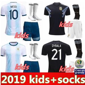 Copa América 2019 crianças kit Argentina jérsei de futebol adultos 2.020 crianças KITS camisa de futebol 19 20 MESSI DYBALA MARADONA AGUERO DI MARIA HIGUAIN