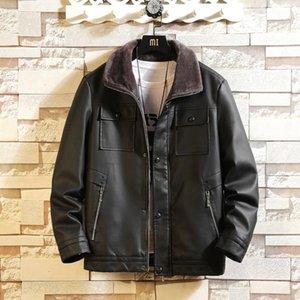 Adam Deri Giyim Gevşek Coat Erkek Artış Aşağı Sıcak Deri Ceket Yıkama Gevşek Coat Erkek tutun