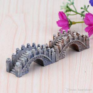 2019 Resin Mini Bridge Miniature Landscape Fairy Garden Moss Terrarium Decoration Tool Garden Crafts Shipping Free