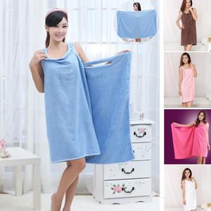 Новой магия махровых полотенца Lady Girls SPA Души Обертывание Ванна платье Robe Халат пляж платье носимых Волшебное полотенце DHL XD21478