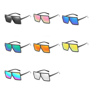 Mulheres Moda Men Sunglasses Oversize Square Frame Sun Óculos Anti-UV Espetáculos Color Film Óculos Goggle Adumbral A ++