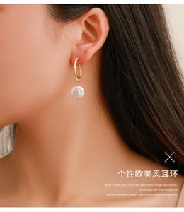 2020 Corea orecchini di goccia femminile Trendy Boemia irregolare perla simulata orecchini di goccia per le donne Errings regali di modo Dichiarazione gioielli