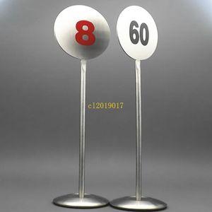 20 шт. Из нержавеющей стали стол номер стенд настольный металлический номер вывесок ресторан стол знак стоя