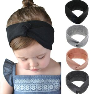 2020 Solid Color Baby Headband Girls Twisted Top Knot Elastic Turban Hairband Kids Haarband Baby Girl Head Wrap Hair Accessories