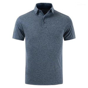 Male Apparel Mens Lapel Neck Short Sleed Sports Mens Designer Polos Golf Solid Mens Tops