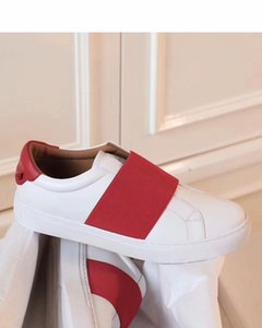 Top Quality Urban Street Sneaker Shoes Rubber Sole White Leather Luxury Designer Ankel Strap Casual Walking Cheap Sale EU36-45