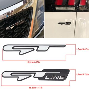 Pour Kia Car Door Grill Trunk GT Line Logo Badge Emblem Sticker Decal pour K2 K3 K4 K5 KX3 KX5 KX7 Optima Stinger Procéder Sportage