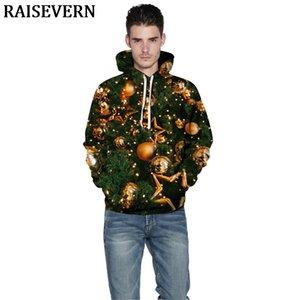 Arbre de Noël 3D Hoodies Sweatshirts Femmes Hommes Cute Cats manteau à capuche Jumper Survêtement Sweat-shirt Streetwear EUR 3XL