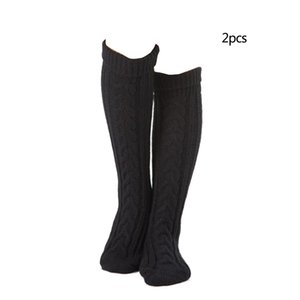 1Pair Fashion Acrylic Fiber Sexy Stockings Knee Socks Stockings Warm Thigh High Over The Knee For Girls Ladies Accessories