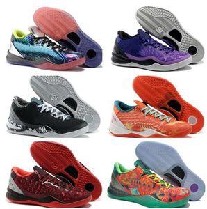 Zapatos Top Negro Mamba 8 baloncesto Navidad Pascua 2012 preludio Reflexión año de la serpiente Filipinas TB capital inactivo Dropshipping Aceptado