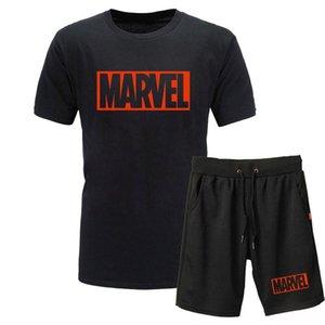 üstleri kıyafetler Marvel baskı erkekler t shirt ve şort pamuk kas egzersiz güçlü ve yakışıklı erkekler tişört eşofman trendleri