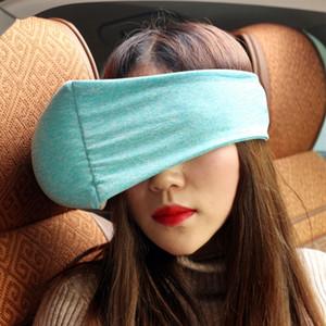 Портативная подушка перемещения компактная подушка и маска глаза 2 в 1 мягкие изумленные взгляды подушка поддержки шеи для Поставкы отключения офиса самолета