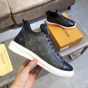 20ss Tok Yüksek Kalite Erkekler Tuval Ayakkabı Koreli Modeller Lace Up Yüksek Top Tuval Ayakkabı Erkek Düz Pu Deri Ayakkabı