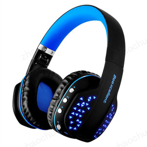 Beexcellent Q2 Auriculares Bluetooth inalámbricos Auriculares estéreo de alta fidelidad plegables con micrófono Luz LED Manos libres para teléfonos PC PS4