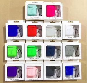 Für Airpods Silikon-Kasten-weichen TPU ultra dünnen Schutz-Abdeckung Hülsen-Beutel für Lufthülsen Kopfhörer Silikon Kasten DHL-freien