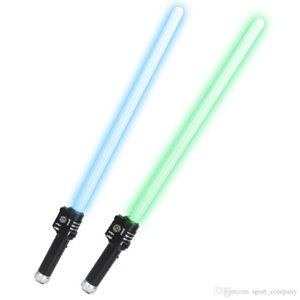 Outdoor Lightsaber Star Toy LED Light Sword Cosplay Props Telescopic Laser Sword Wars Toys Cool Light with Sound Saber Kids Christmas Gift