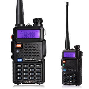 BaoFeng UV5R UV5R walkie talkie de doble banda de 136-174MHz 400-520Mhz radio de dos vías transceptor con 1800mAH Batería Auricular libre (BF-UV5R)
