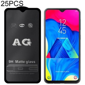 25 PCS AG cubierta helada mate completo vidrio templado para el Galaxy A7