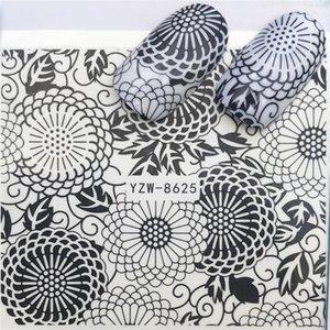 2019 Hot Nail Sticker Dream Catcher / Schmetterling / Blume Wassertransfer Stamping Nail Art Tipps Nail Decor Maniküre Aufkleber