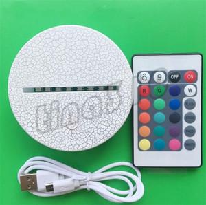 Nuevas bases de lámparas LED creativas 3D Vision Lámparas estéreo soporte de lámpara de plástico base de lámpara de noche artesanía soporte de lámpara de mesa Arts and Crafts I508