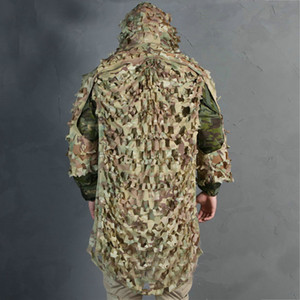 Leggero assalto Ghillie Camouflage Ghillie Suit Secretive Hunting Clothes Sniper Suit Abbigliamento mimetico