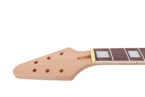 Незавершенная гитарная шея 22 лад. 25,5-дюймовый гриф из розового дерева Flying V Guitar