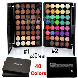 POPFEEL 40 Colores Paleta de Sombra de Ojos Warm Earth Color Caramelo Desnudo Cosméticos Ojos Brillo y Mate Paleta Sombra de Ojos Ojos Marca Cosméticos