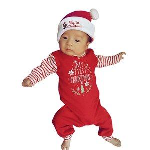 MUQGEW 2018 bébé nouveau-né de Noël Filles Garçons Lettre barboteuses Jumpsuit SetOutfit Vêtements vêtements pour bébés garçon barboteuses Bebek giyim S200107