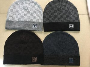 Новая Франция моды мужских дизайнеров шляпа капот зимой шапочка вязаной шерсть шляпа плюс бархат шапка Skullies Thicker маска Fringe Шапочка шляпа ЛЛТА