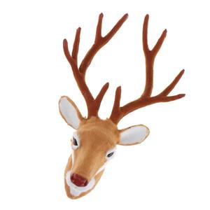 Faux Deer Head Modelos parede Cabeça de animal Escultura Decoração presente