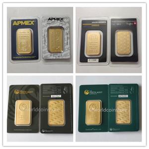 The green black perth mint Apmex Argor Heraeus 1 troy OZ gold plated bar 31 gram mint bar high quality copy free shipping