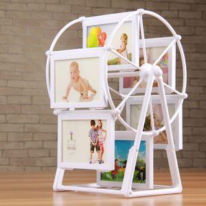 Feste Windmill Shelf-Form-Foto-Feld-Ausgang Art Craft Kunststoff-Bilderrahmen für Desktop-Rahmen für Bilder marcos para fotos