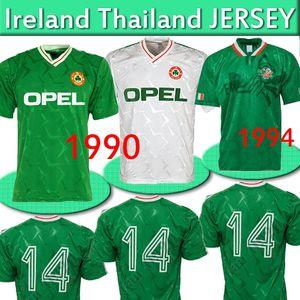 1990 Ireland RETRO camisa de futebol 1994 kit copo camisa do vintage de futebol República da Irlanda Selecção Jerseys Mundial costume verde Tailândia