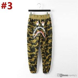 Bap A Bathing A Ape Streetwear Shark Bone Personality Camouflage pants Sweat weatpants Skinny Outwear Casual Jogger Unisex Trousers