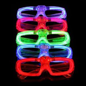 ¡Mejor! Marco de los vidrios LED de luminiscencia con pilas del interruptor de botón 3 modos de frío centralizado Party Festival Lighting Sin lente