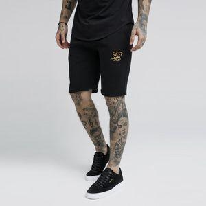 pantaloni di scarsità Sik seta fitness Bodybuilding jogging Casual allenamento di marca Mens Sporting pantaloncini in cotone pantaloni della tuta